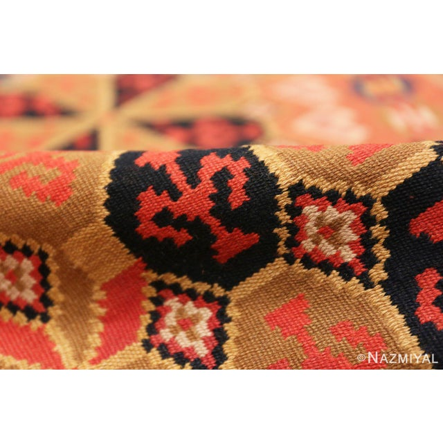 Mid-Century Modern Small Vintage Swedish Kilim Scatter Rug - 1′11″ × 3′6″ For Sale - Image 3 of 8