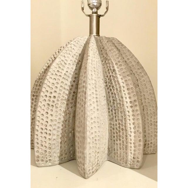 Unique Brutalist Style Arteriors Lorenzo Concret Table Lamp, showroom floor sample