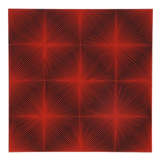 Roy Ahlgren, Galaxy Iv, Graphic Red Abstract Screenprint For Sale