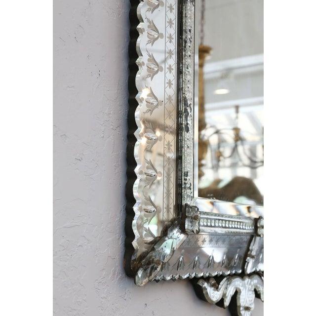 Large Rectangular Venetian Mirror For Sale - Image 11 of 12