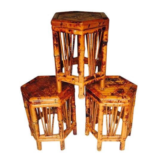 Vintage Bamboo Plant Stands - Set of 3 - Image 1 of 7