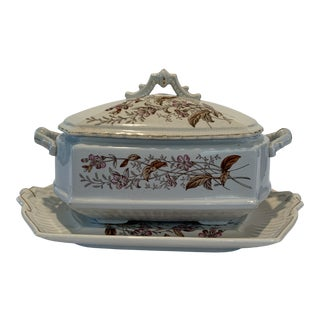 "H. Burgess Burslem ""Campion"" Covered Tureen and Platter For Sale"