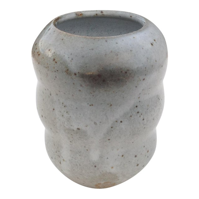 Boho Chic Gray Bud-Vase For Sale