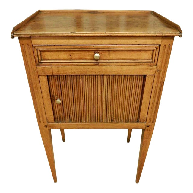 Early 19th C. French Walnut Side Table For Sale