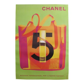 1998 Original Vintage Chanel No. 5 Poster (Green)