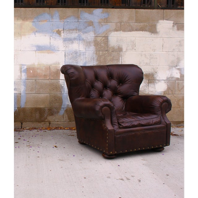 Restoration Hardware Churchill Chair & Ottoman - Image 8 of 9