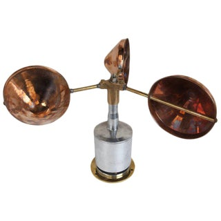 Mid-Century Copper, Brass and Chrome Ship's Anemometer For Sale