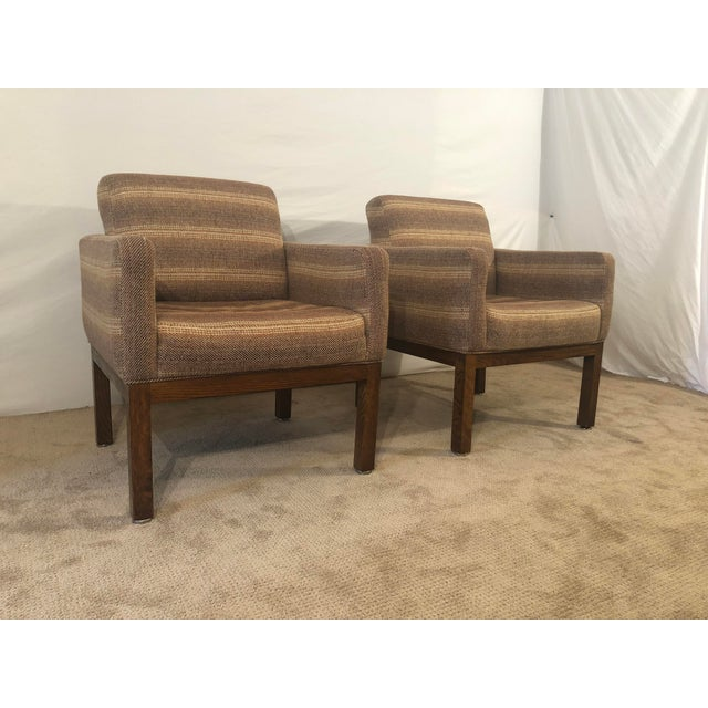 Oak 1980s Vintage Milo Baughman Conference Chairs- A Pair For Sale - Image 7 of 13