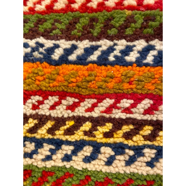 """Abstract Berber Handwoven Patchwork Rug-2'2'x8'8"""" For Sale - Image 3 of 8"""