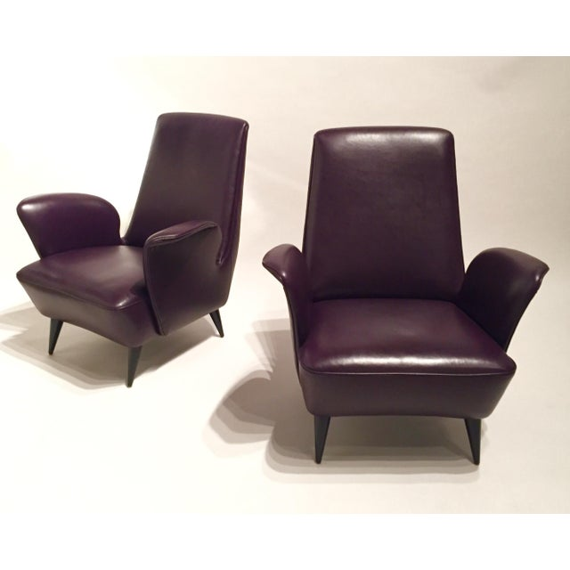 Italian Leather Armchairs - A Pair - Image 2 of 8
