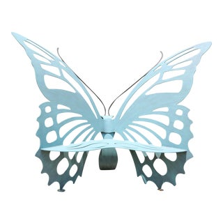 Blue Iron Butterfly Chair For Sale