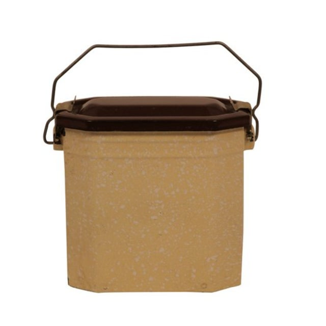 Antique French Enamel Lunch Pail - Image 1 of 3