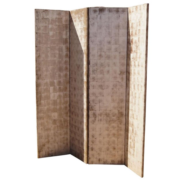 Mediterranean Hand Painted Wood Room Divider For Sale - Image 3 of 5