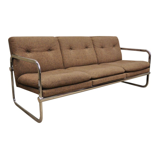 Milo Baughman Style Sofa by United Chair For Sale