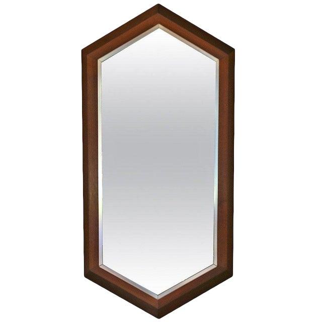 Walnut Framed Mirror by Arthur Umanoff for Howard Miller C.1965 For Sale