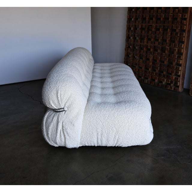 Late 20th Century Afra & Tobia Scarpa Soriana Sofa for Cassina in Bouclé For Sale - Image 10 of 13