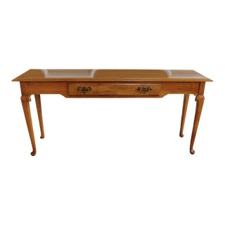 Ethan Allen Heirloom Maple Queen Anne Style Sofa Table #10-9044