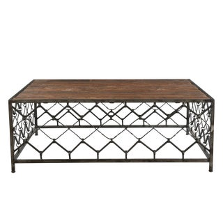 Square Coffee Table With Wooden Top