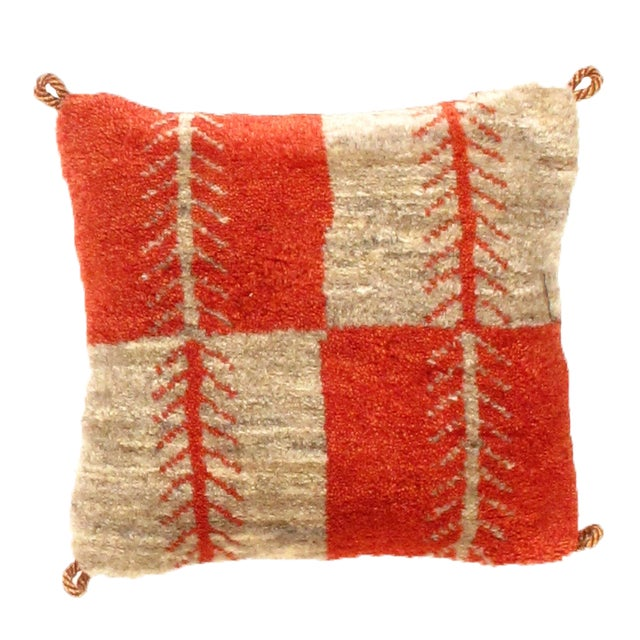 Islamic Persian Gabbeh Lori Baft Pillow For Sale - Image 3 of 3