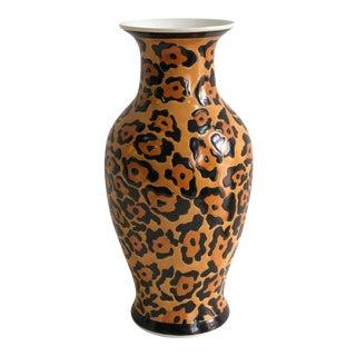 Vintage Leopard Pattern Porcelain Flower Vase