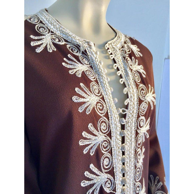 Moroccan Caftan, Maxi Dress Kaftan, 1970 Size Small For Sale - Image 12 of 13