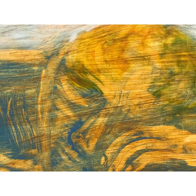 Figure in Grass Signed Oil on Board - Image 3 of 6