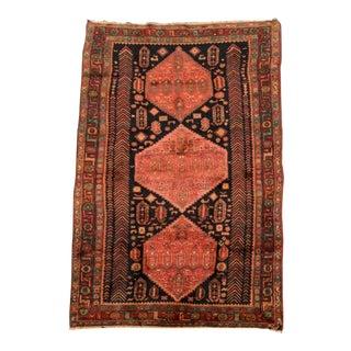 "Antique Persian Wool Rug - 4'-7"" X 9'-3"""