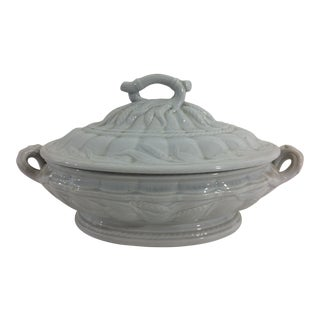 Victorian Redcloff Ironstone Tureen For Sale