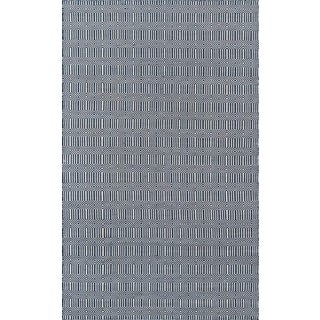 "Erin Gates Newton Holden Navy Hand Woven Recycled Plastic Area Rug 5' X 7'6"" For Sale"