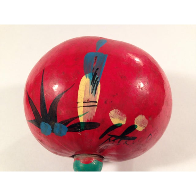 Hand-Painted Red Maracas - A Pair - Image 3 of 4