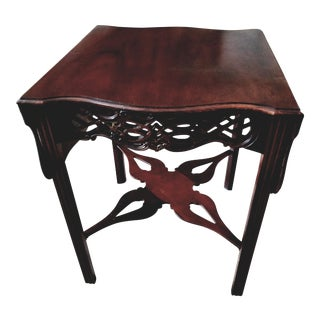 Last Call, Delisting, Baker Historic Charlestown Collection Chippendale Dropleaf Pembroke Tea Table