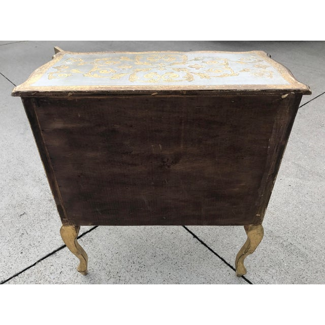 Italian Florentine Gold Cabinet For Sale - Image 4 of 6