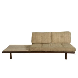 De Sede Leather and Travertine Sofa