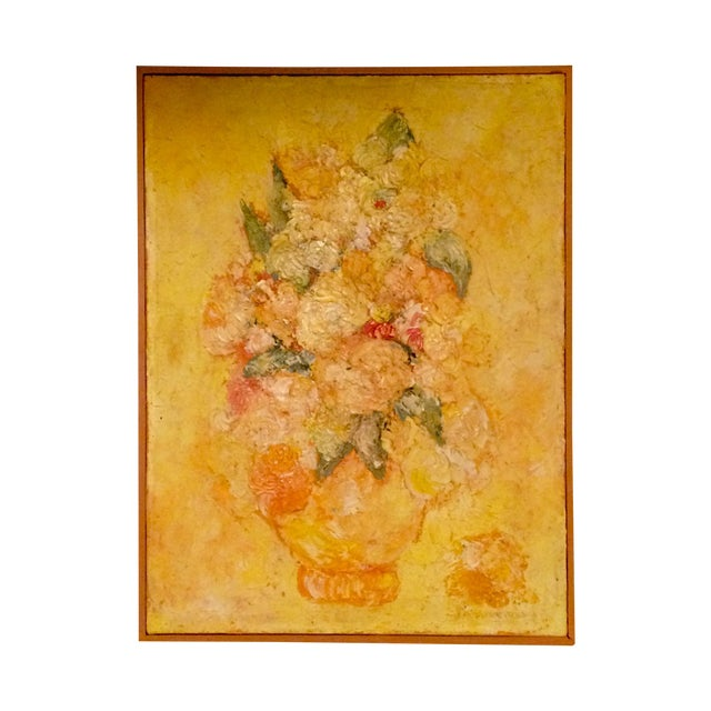 Floral Impressionist Painting Signed Bernheim - Image 1 of 8