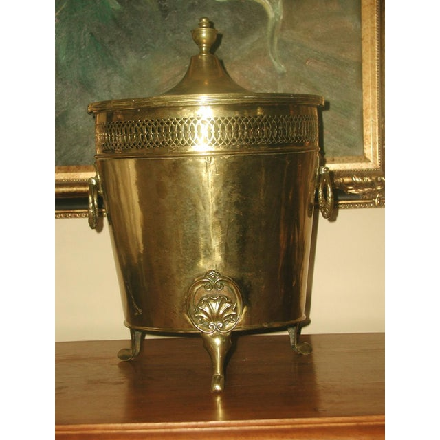 English Early 1900's Brass Coal Hod - Image 2 of 10