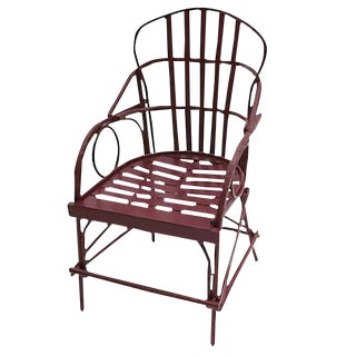 Faux Bois Aluminum Arm Chair For Sale