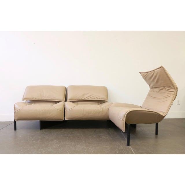 Leather Veranda 3 Sofa by Vico Magistretti for Cassina For Sale In Dallas - Image 6 of 13
