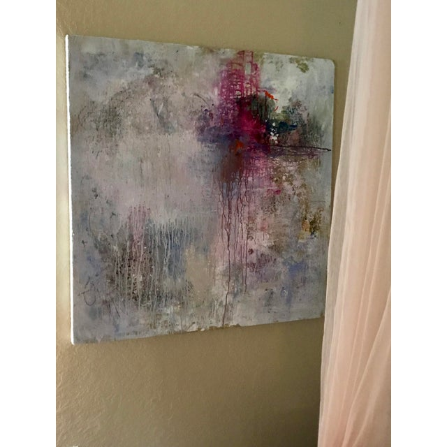 "2010s Abstract Mixed Media Painting ""Break Through"" For Sale - Image 5 of 9"
