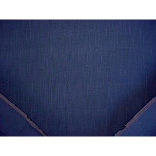 Traditional Ralph Lauren Sunbaked Linen Indigo 100% Linen Upholstery Fabric - 5-5/8y For Sale