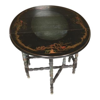 Antique Chinoiserie Gate Leg Table Imperial Furniture Company For Sale