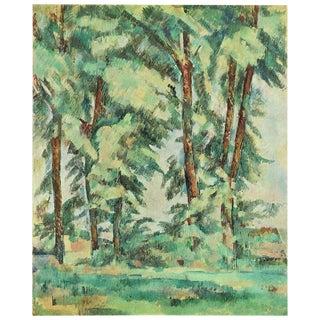 1940s Cezanne Big Trees at Le Jas De Bouffan Swiss Plate For Sale