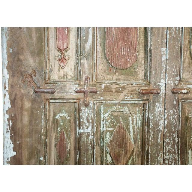 Old Jodhpur Carved Entrance Doors For Sale - Image 5 of 8