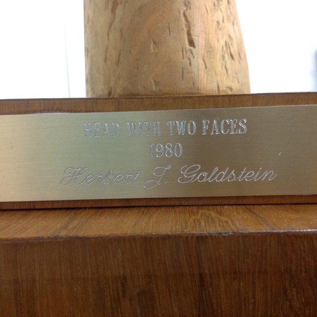 Large Goldstein Sculpture 'Head With Two Faces' - Image 4 of 5