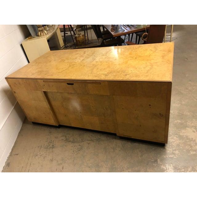 Henredon Scene Two Executive Desk in Burl Wood For Sale - Image 12 of 12