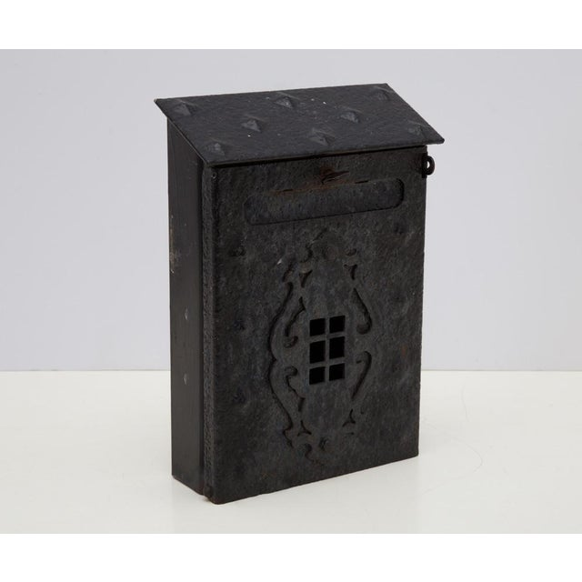 Gothic MIssion Tudor Gothic Iron House Mailbox For Sale - Image 3 of 9