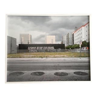 Large Framed Photograph of Downtown Miami