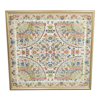 Large Chinese Framed Tapestry For Sale