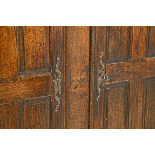 Early 19th Italian Century Rustic Oak Armoire For Sale - Image 4 of 11