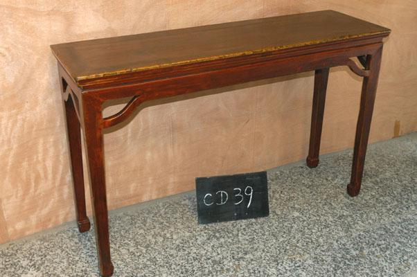 Asian 1900s Chinese Style Natural Elmwood Console Table For Sale   Image 3  Of 3