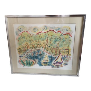 "1980s Wayne Ensrud ""Portofino"" Lithograph For Sale"